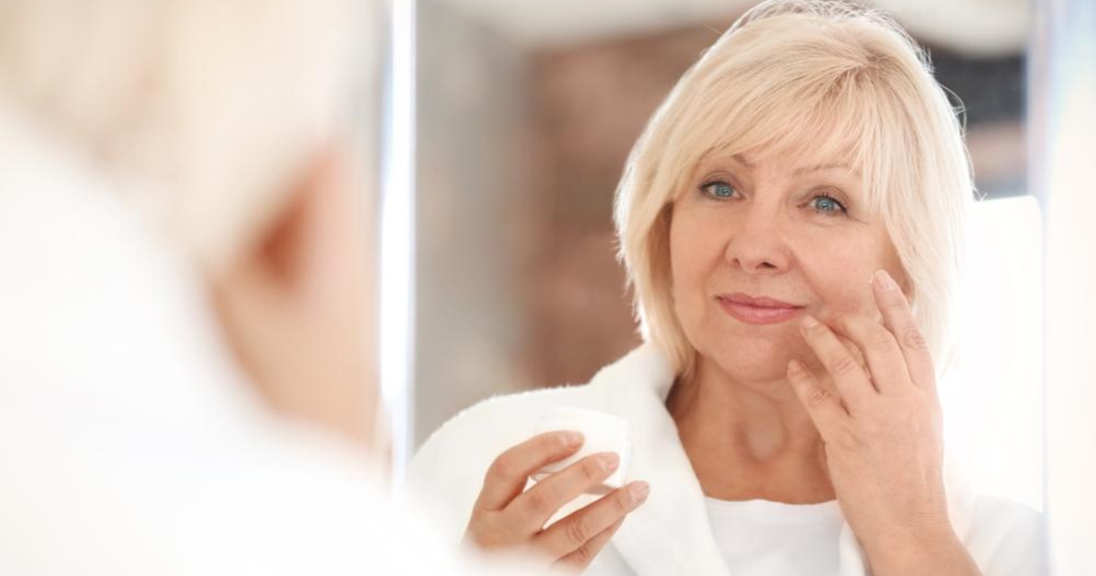 Middle aged woman thinking about leaving hair club
